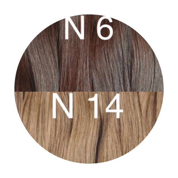 Hair Wefts Hand tied Color _6/14 GVA hair_Gold line - GVA hair