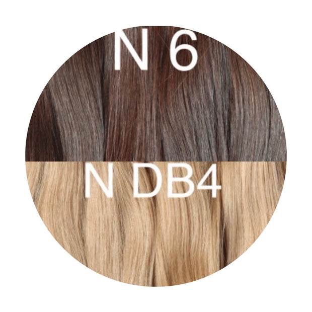 Hair Wefts Hand tied Color _6/DB4 GVA hair_Gold line - GVA hair