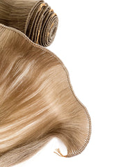 Hair Wefts Hand tied Color 8H GVA hair_Silver line - GVA hair