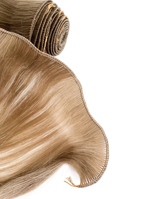 Hair Wefts Hand tied Color 9C GVA hair_Silver line - GVA hair