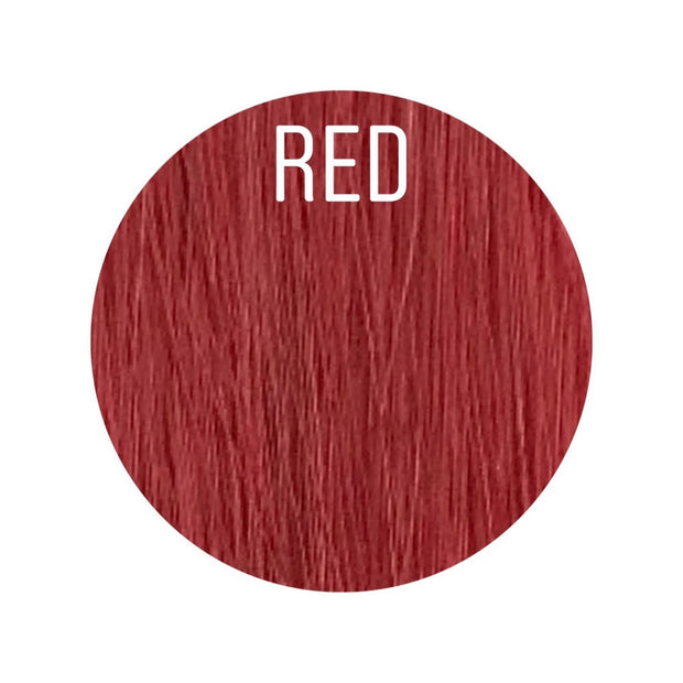 Hair Wefts Hand tied Color RED GVA hair_Gold line - GVA hair
