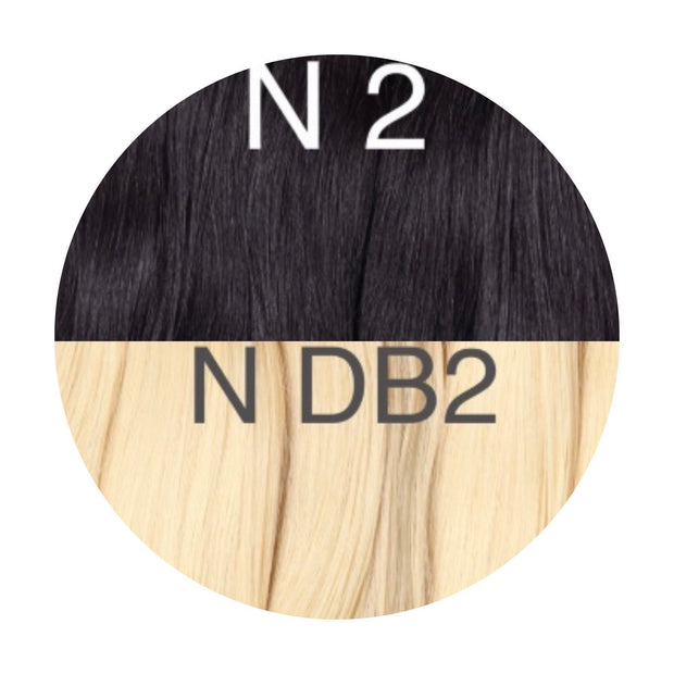Hot Fusion ambre 2 and DB2 Color GVA hair - GVA hair