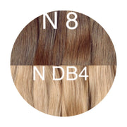 Hot Fusion ambre 8 and DB4 Color GVA hair - GVA hair