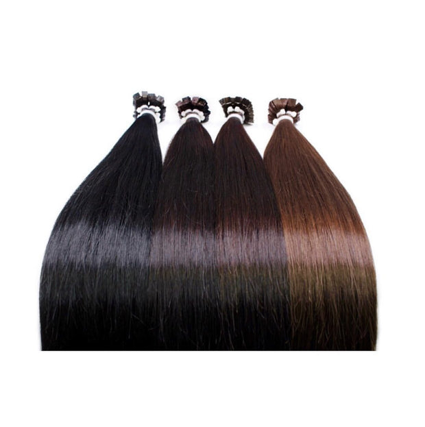 Hot Fusion Colors BLACK AND DARK BROWN_Gold Line - GVA hair