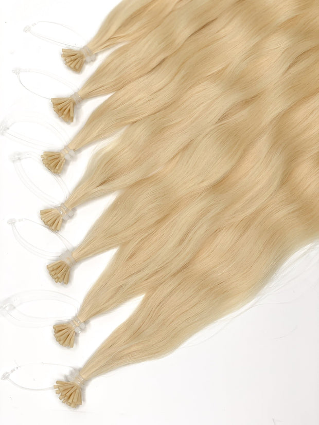 Micro Links Colors LIGHT BROWN_Gold Line - GVA hair