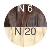 Raw cut hair Ambre 6 and 20 Color GVA hair - GVA hair
