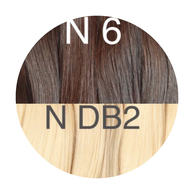 Raw cut hair Ambre 6 and DB2 Color GVA hair - GVA hair