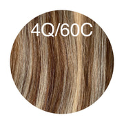 Raw Cut Hair Color _4Q/60C GVA hair_Silver line - GVA hair