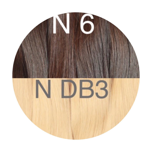 Raw Cut Hair Color _6/DB3 GVA hair_Gold line - GVA hair