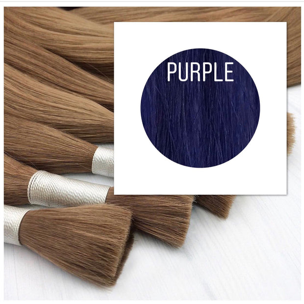 Raw cut hair Color Purple GVA hair - GVA hair