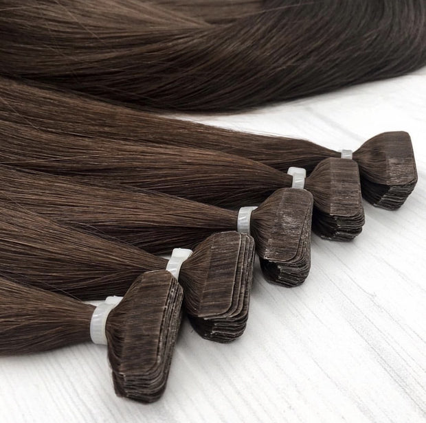 Tapes Colors BLACK AND DARK BROWN_Gold Line - GVA hair
