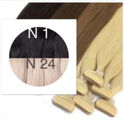 Tapes ombre Color 1 and 24 GVA hair_Retail price - GVA hair
