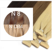 Tapes ombre Color 8 and DB4 GVA hair_Retail price - GVA hair