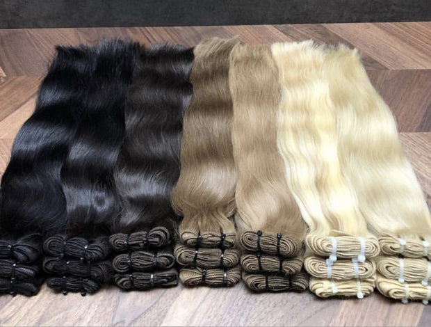 Wefts ambre 2 and DB2 Color GVA hair - GVA hair
