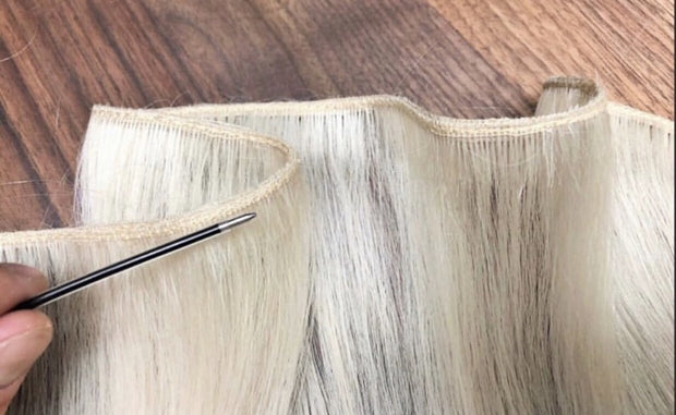 Wefts ambre 2 and DB3 Color GVA hair - GVA hair