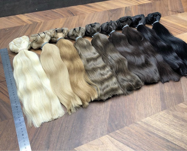 Wefts ambre 8 and DB3 Color GVA hair - GVA hair