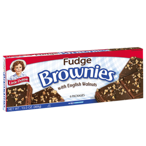 Little Debbie Fudge Brownies with Walnuts 6pack