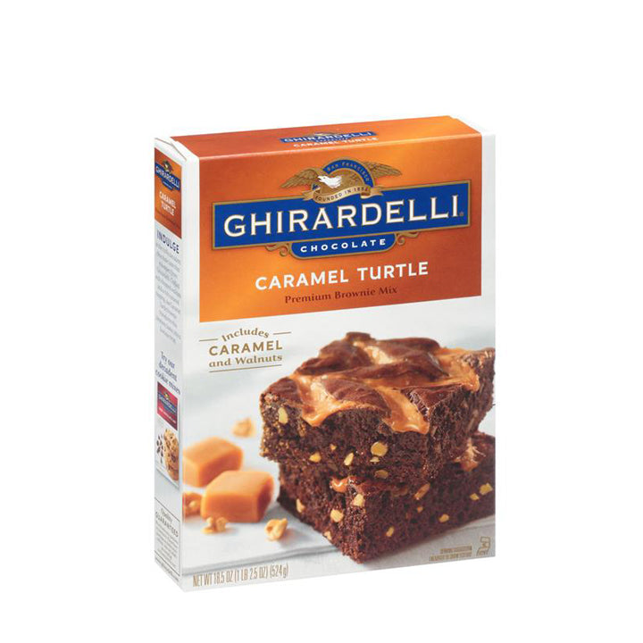 Ghirardelli Caramel Turtle Premium Brownie Mix