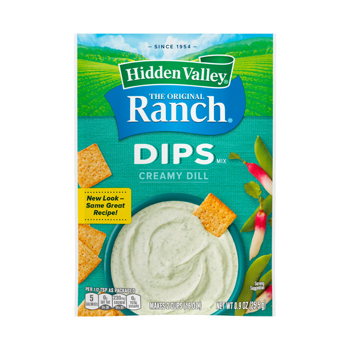 Hidden Valley Ranch Dips Mix - Creamy Dill