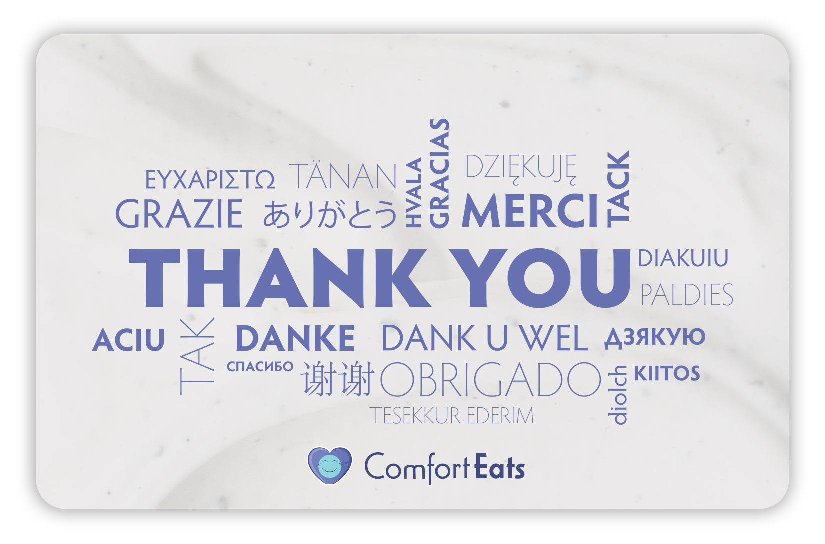 Comfort Eats Thank You gift card