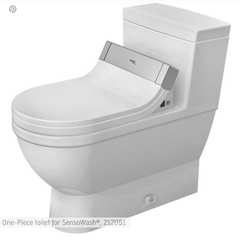 Starck 3 One Piece Toilet with Sensowash 212051, 610001