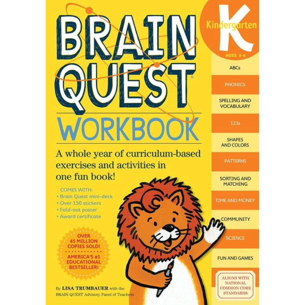 Brain Quest Workbook Kindergarden
