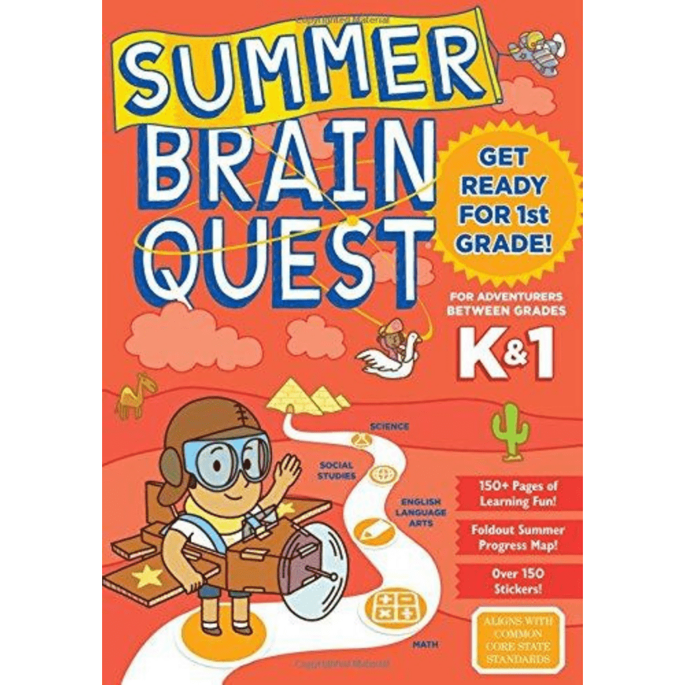 Summer Brain Quest Book K1 & Grade 1