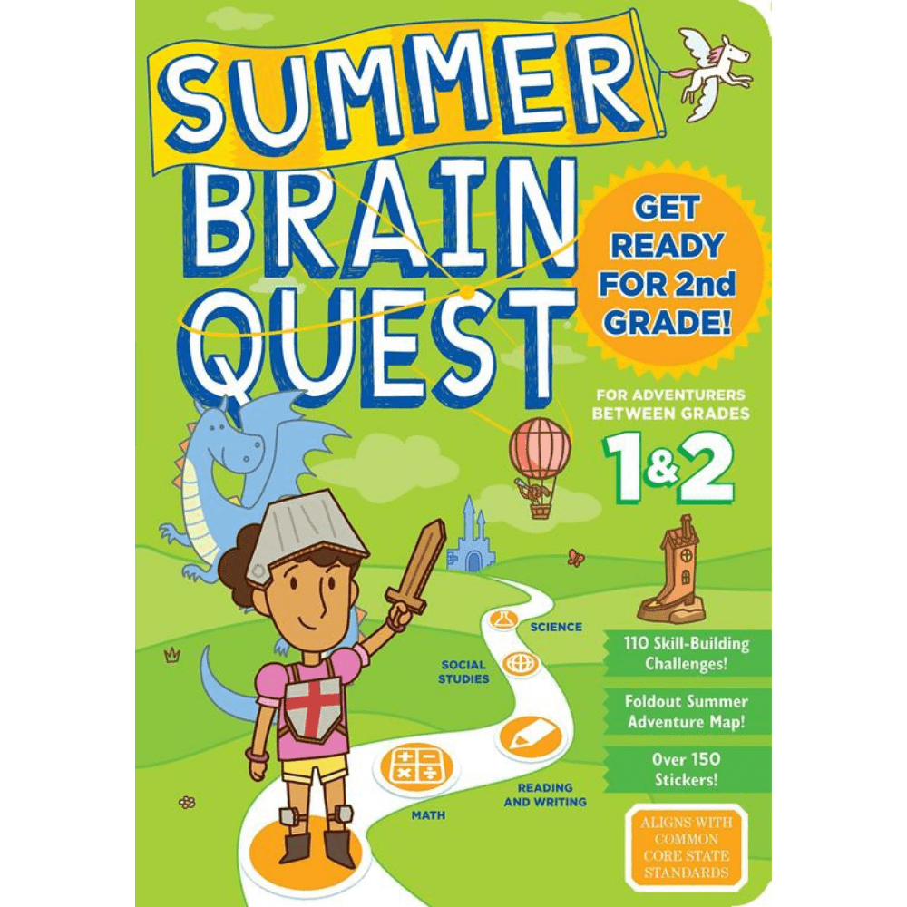 Summer Brain Quest Book Grade 1 & 2