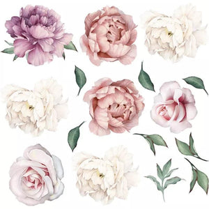 Peonies and Roses Wall Decals