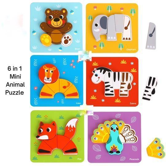 6 in 1 Chunky Animal Puzzle