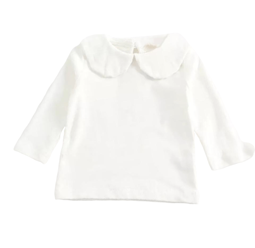 Peter Pan Collar Long Sleeves Top