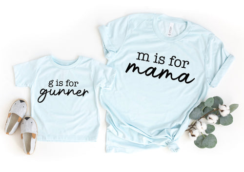 M is for mama SET (Customize name)
