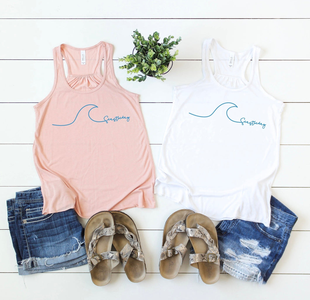 SEAS THE DAY RACERBACK TANK