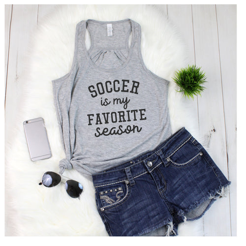 SOCCER is my favorite season TANK (sport can be changed)