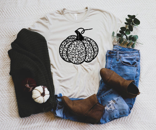 Cheetah Pumpkin Tshirt