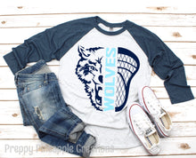 Load image into Gallery viewer, NEWSOME WOLVES LACROSSE RAGLAN