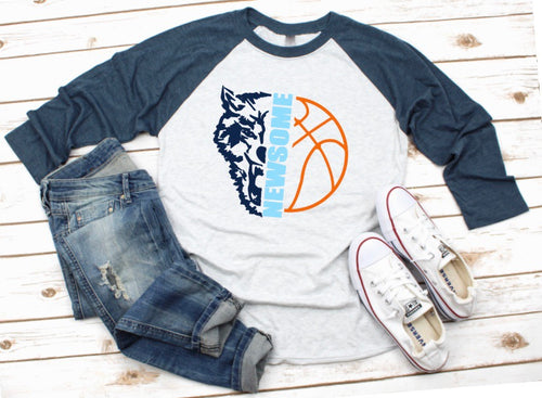 NEWSOME Basketball Raglan