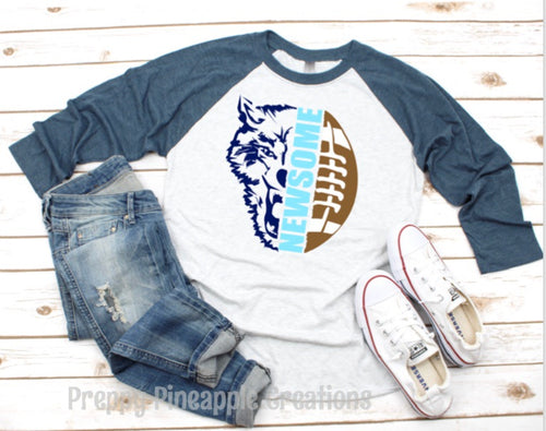 NEWSOME WOLVES FOOTBALL RAGLAN