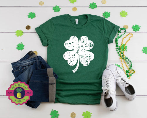 DISTRESSED SHAMROCK Unisex Tee