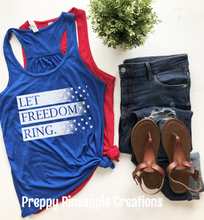 Load image into Gallery viewer, LET FREEDOM RING TSHIRT OR TANK