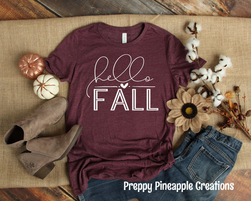 HELLO FALL — SHORT/LONG SLEEVE OPTION