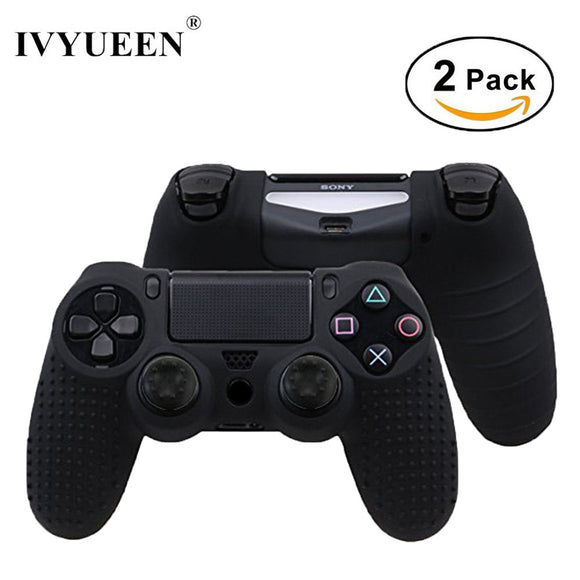 Anti-slip Silicone Cover Skin Case voor Playstation 4 controller ( 2 Case + 4 Grips )