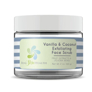 Vanilla and coconut exfoliating face scrub