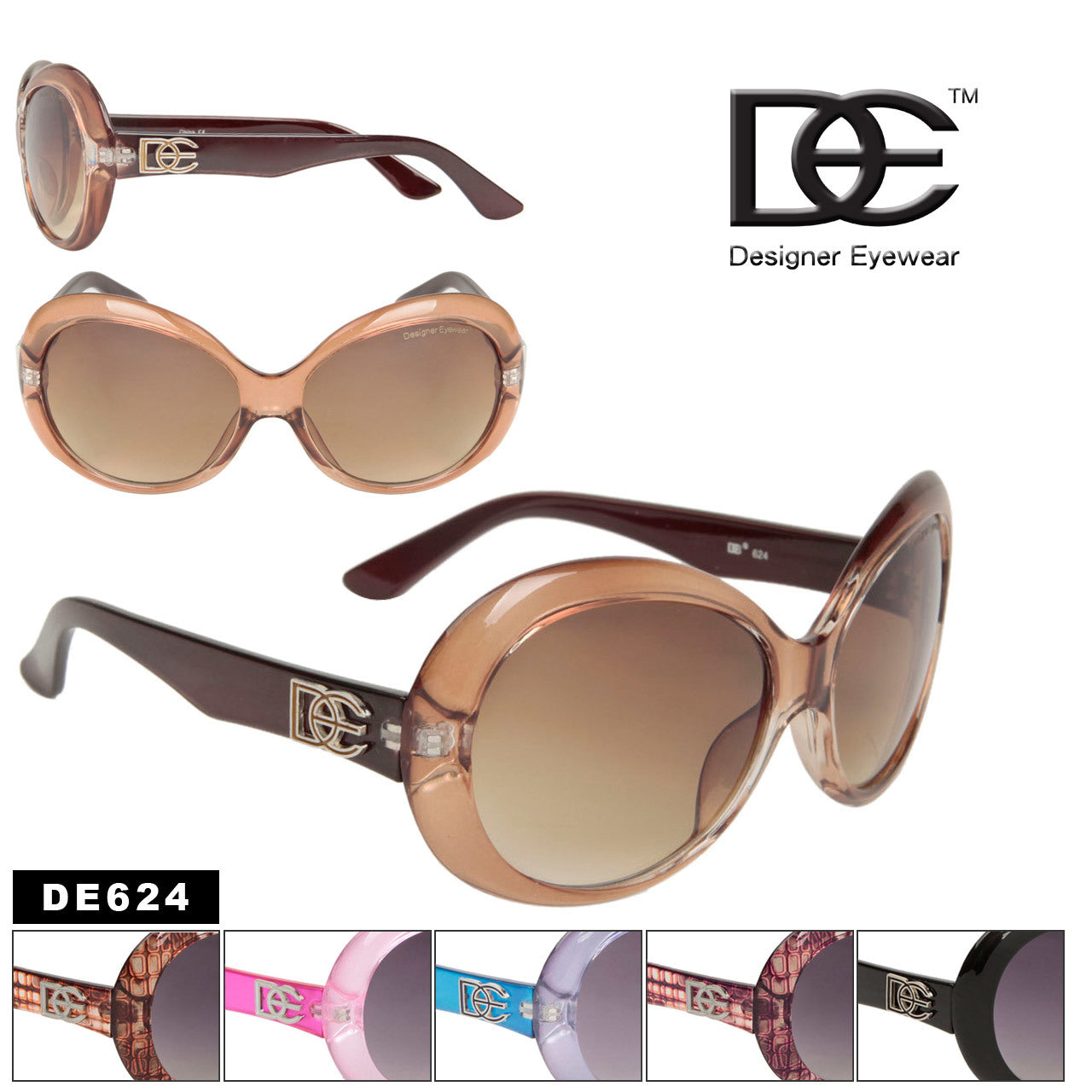 LADIES FASHION LT BROWN AND DARK FRAME
