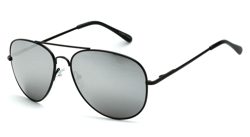 AVIATOR BLACK AND SILVER