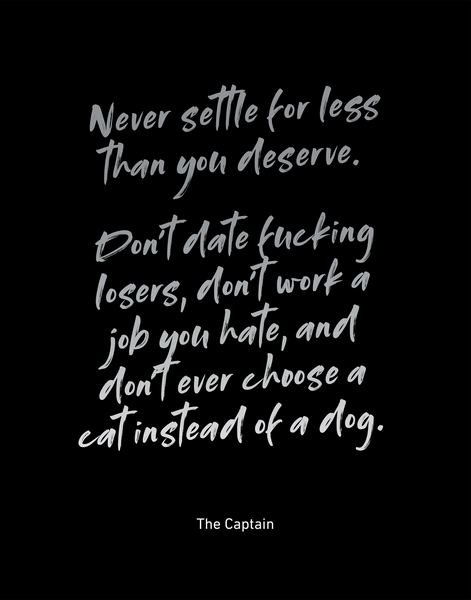 "Never Settle Print | 22"" X 28"" (Signed + Free U.S. Shipping)"