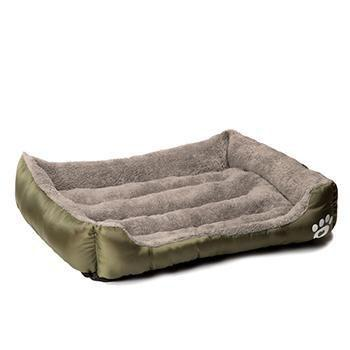 Image of Bedding Pet Bed Warming House Soft Pet Nest Dog sofa bedding For Cat Puppy Plus size beds for large pets Army Green / S
