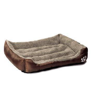 Bedding Pet Bed Warming House Soft Pet Nest Dog sofa bedding For Cat Puppy Plus size beds for large pets Brown / S