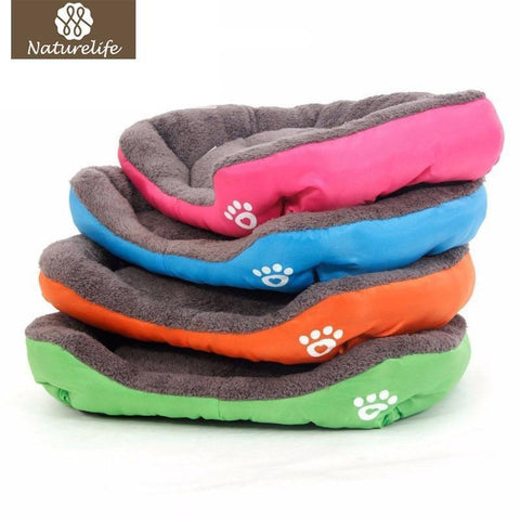 Bedding Pet Bed Warming House Soft Pet Nest Dog sofa bedding For Cat Puppy Plus size beds for large pets Green / S