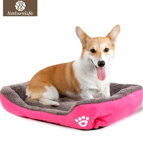 Image of Bedding Pet Bed Warming House Soft Pet Nest Dog sofa bedding For Cat Puppy Plus size beds for large pets Green / S